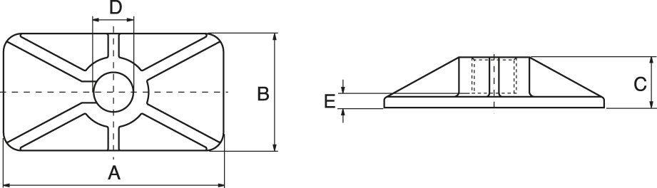 Enkelverkande Cylindrar, Fjäderretur - ritning