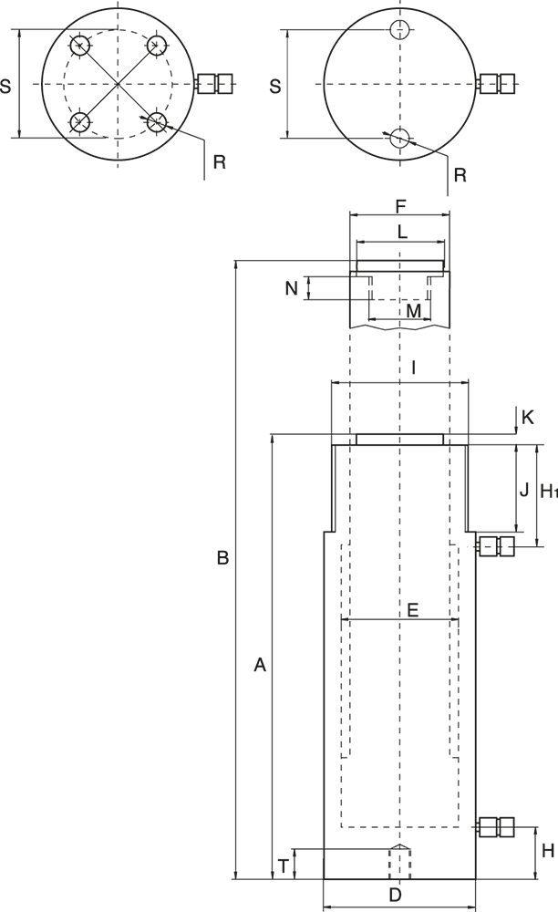 Dubbelverkande Cylindrar Allround - Ritning