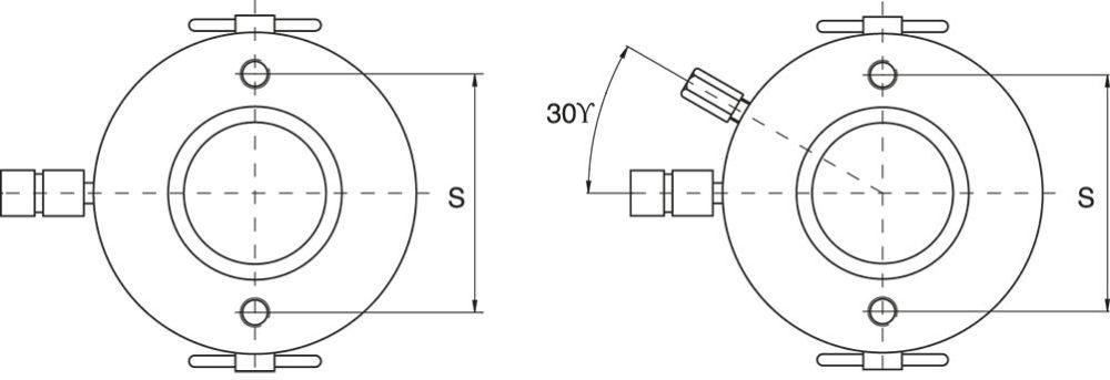 Hålcylindrar Enkelverkande med Fjäderretur, eller Dubbelverkande - Ritning
