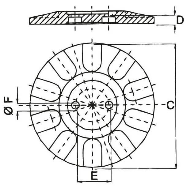 runde-Fuß-Zeichnung