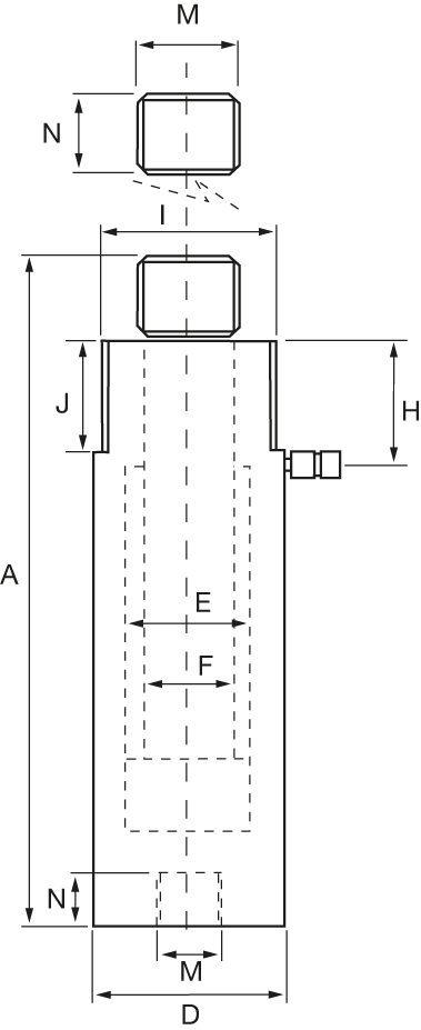 Zugzylinder - Zeichnung