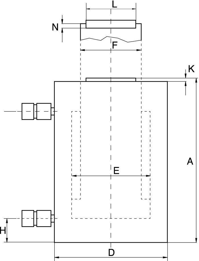 Dubbelverkande Högtonnage-Cylindrar - Teknisk ritning