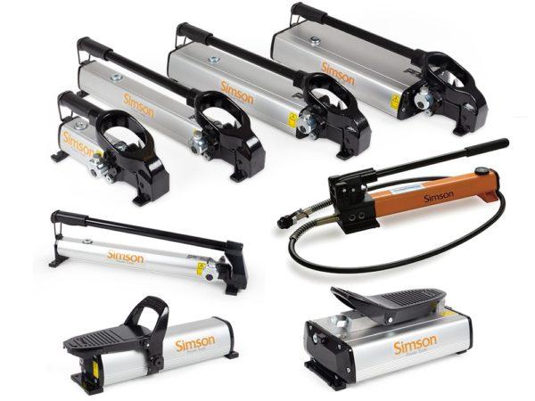 Hydrauliska pumpar, slangar, kopplingar & manometrar